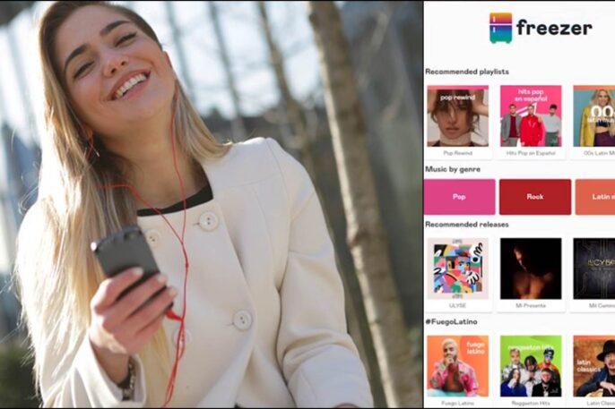 aplicación para escuchar música freezer