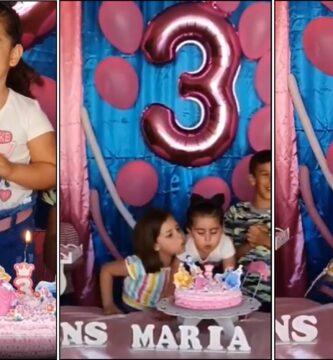 Video viral del cumpleaños