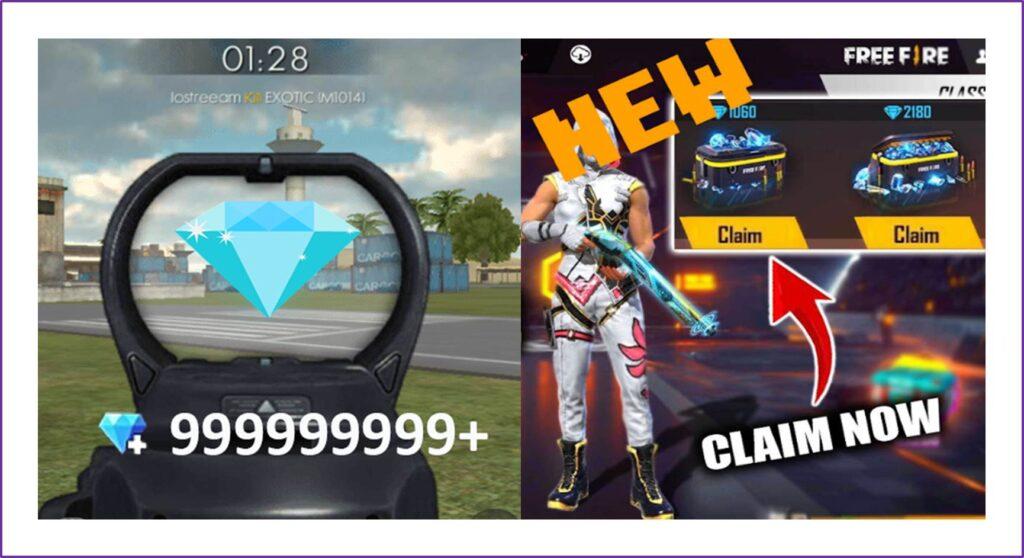 Diamantes en el juego llamado Free fire.